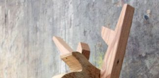 hiasan kayu kepala rusa