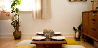meja makan ala jepang